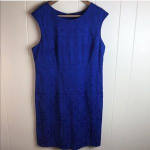 3/$27 R&K Sleeveless Blue Body Con Casual Dress